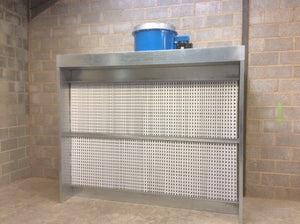 spray booth at aries duct fiix 2 metre wide