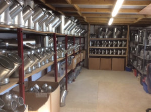 Aries Duct Fix Stock Room with dust extraction equipment