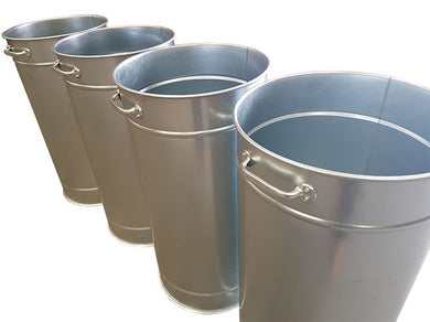 Metal Bins with Castors for extraction machines