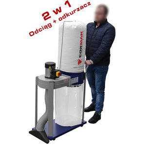 cormak fm230l1 dust extractor demonstration at aries