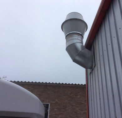 pvc cowl with exhaust extraction spray booth