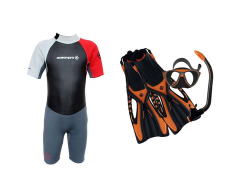 Kids Grommet Shortie Snorkelling Package - Frog Dive