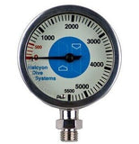 Halcyon Sumbersible Pressure Gauge with Hose - Frog Dive