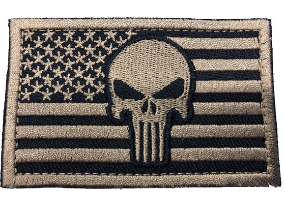 Punisher American Flag - Tactical Velcro Patches