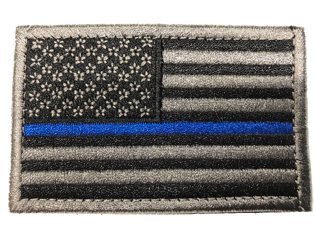 Thin Blue Line Flag - Tactical Velcro Patches