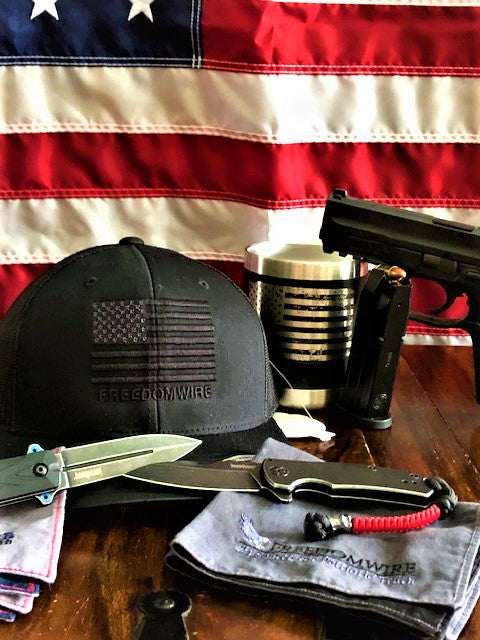 FreedomWire - Snap Back Trucker Hat - Flag