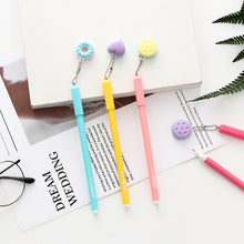 Load image into Gallery viewer, 2Pcs/lot Cute Sweet Doughnut Pendant Gel Pen