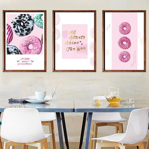 Color Sweet Food Doughnut Posters