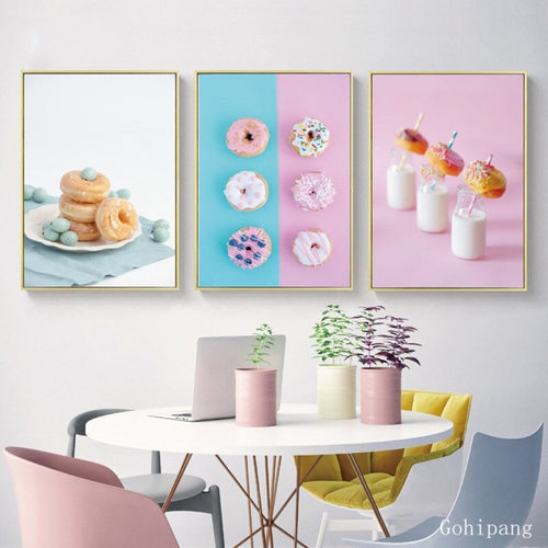 Nordic Food Poster Sweet Dessert Canvas Painting