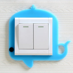 Cute Cartoon Silicon Light Switch Sticker