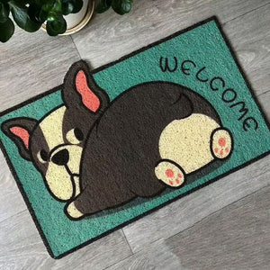 Adorable Cats and Dogs Welcome Doormat