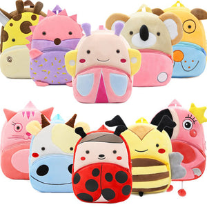 Toddler's Cute Animal Plush Backpacks