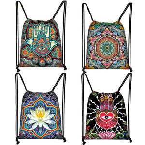 Fascinating Mandala Drawstring Backpack