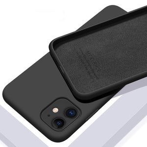 Soft Matte Back Cover Case For iPhone