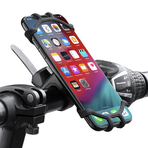 Elastic Adjustable Bicycle Handlebar Mount Phone Holder