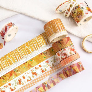 10pcs/Box Beautiful DIY Masking Tape Adhesive Decoration - 10pcs/Box Beautiful DIY Masking Tape Adhesive Decoration