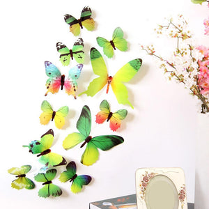 12Pcs 3D Butterflies Wall Sticker For Home Decorations - 12Pcs 3D Butterflies Wall Sticker For Home Decorations
