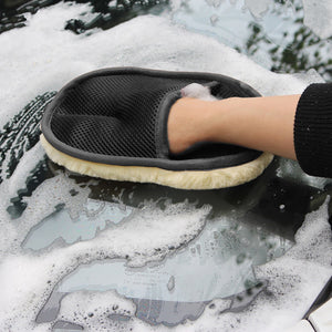 Soft Wool Car Cleaning Gloves