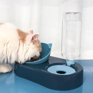 Pet Bowl With An Automatic Water Dispenser For Cats and Dogs