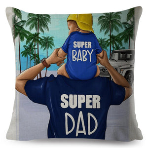 Super Mom and Dad Pillow Cover
