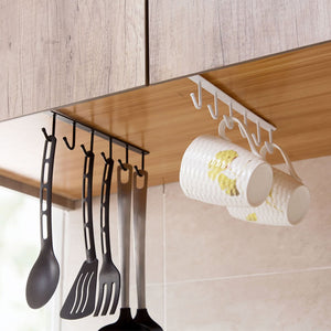 Multi Function Iron Kitchen Hanging Hook Organizer