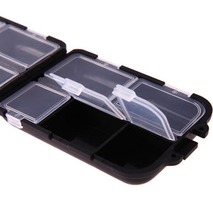 Convenient 10 Grids Medicine Pill Storage Box