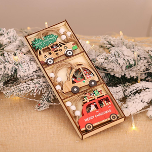 Thin and Painted Wood Christmas Ornaments