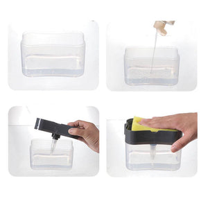 Multi Function Liquid Soap Pump Dispenser and Sponge Holder