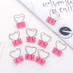 5pcs Love Heart Journaling, Stationery, and File Clips