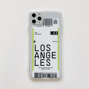 World City Label Bar Code Phone Case For iPhone