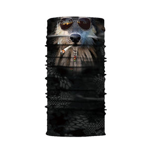 Multi Function 3D Animal Pattern Neck Gaiter Face Mask