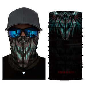 Seamless Skull Neck Gaiter Face Mask