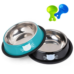Stainless Steel Feeding Bowls For Cats And Dogs