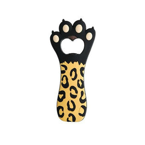 Silicone Cat Paw Fridge Magnet and Bottle Opener