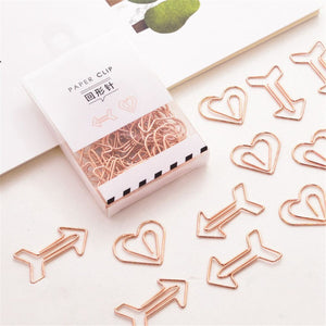 12pcs Cute and Mini Shaped Metal Paper Clips for School and Office