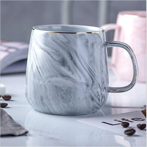 Chic and Elegant Marble Design Ceramic Coffee Mugs