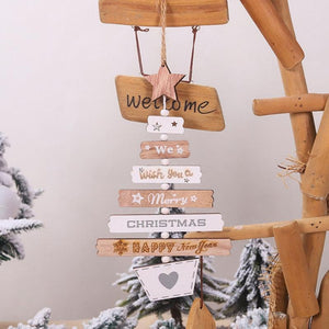Wooden Merry Christmas Hanging Signage