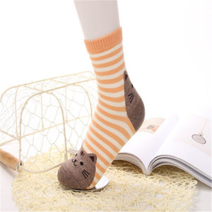 Adorable Striped Cat Themed Socks