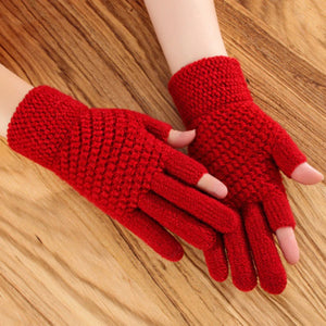 Warm and Comfy Knitted Winter Gloves