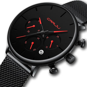 Accessories Minimalist Sleek Black Formal Watch For Men - Minimalist Sleek Black Formal Watch For Men