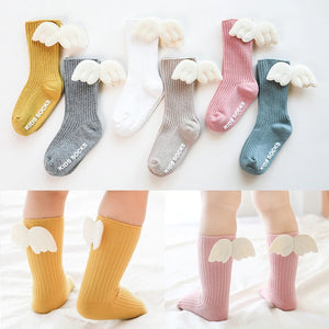 Non-Slip Angel Wings Kids Socks