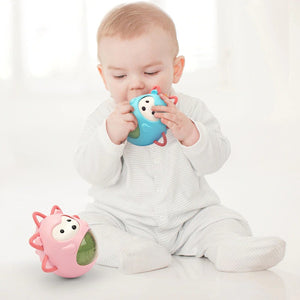 Cartoon Hedgehog Tumbler Baby Toy with Crisp Sound