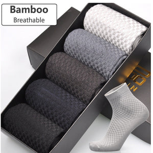 Bamboo Fiber Socks For Men - Anti-Bacterial & Breathable-TrendyVibes.CO