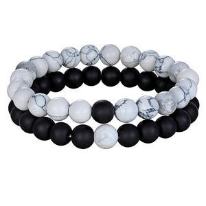 Beaded Stone Bracelet Charm Jewelry For Men And Women - Beaded Stone Charm Bracelet Jewelry For Men And Women