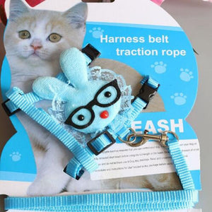Adjustable and Soft Harness with Leash Angel Wings for Pets