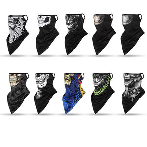 Breathable Gothic Skull Prints Neck Warmer Face Mask - Breathable Gothic Skull Prints Neck Warmer Face Mask