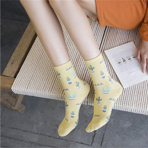 Clothing Socks Comfy And Cute Cactus Themed Socks - Comfy And Cute Cactus Themed Socks