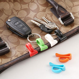 Colorful Mini Built In Bag Clip Anti Lost Key Hook Holder - 2-Piece Colorful Mini Anti Lost Bag Clip Key Hook Holder