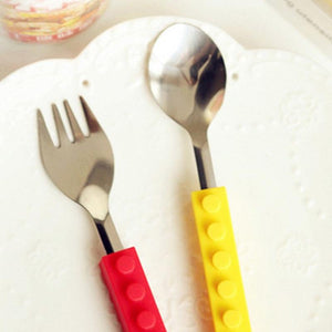 Creative Bricks Portable Silicone Cutlery Set-TrendyVibes.CO