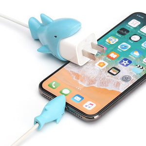 Funny Cartoon Animal Bites Charger Cable Protector